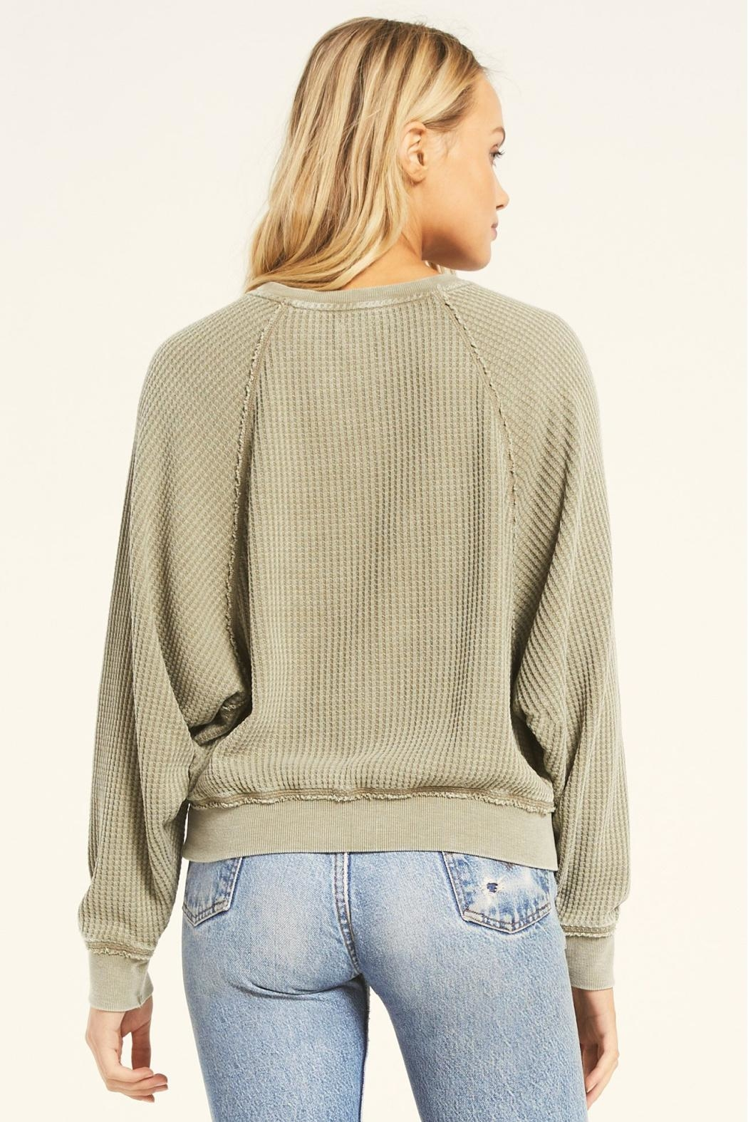 Z Supply  Claire Waffle Long Sleeve - Side Cropped Image