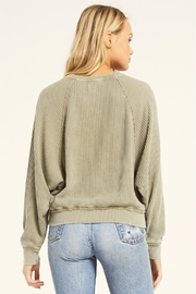 Z Supply  Claire Waffle Long Sleeve - Side cropped