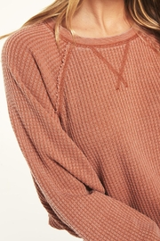 z supply Claire Waffle Longsleeve - Back cropped