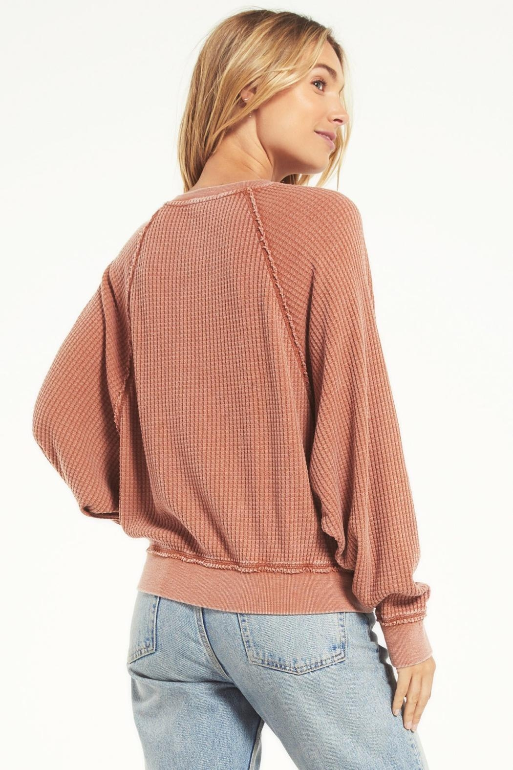 z supply Claire Waffle Longsleeve - Side Cropped Image