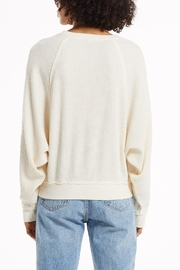 z supply Claire Waffle Pullover - Side cropped