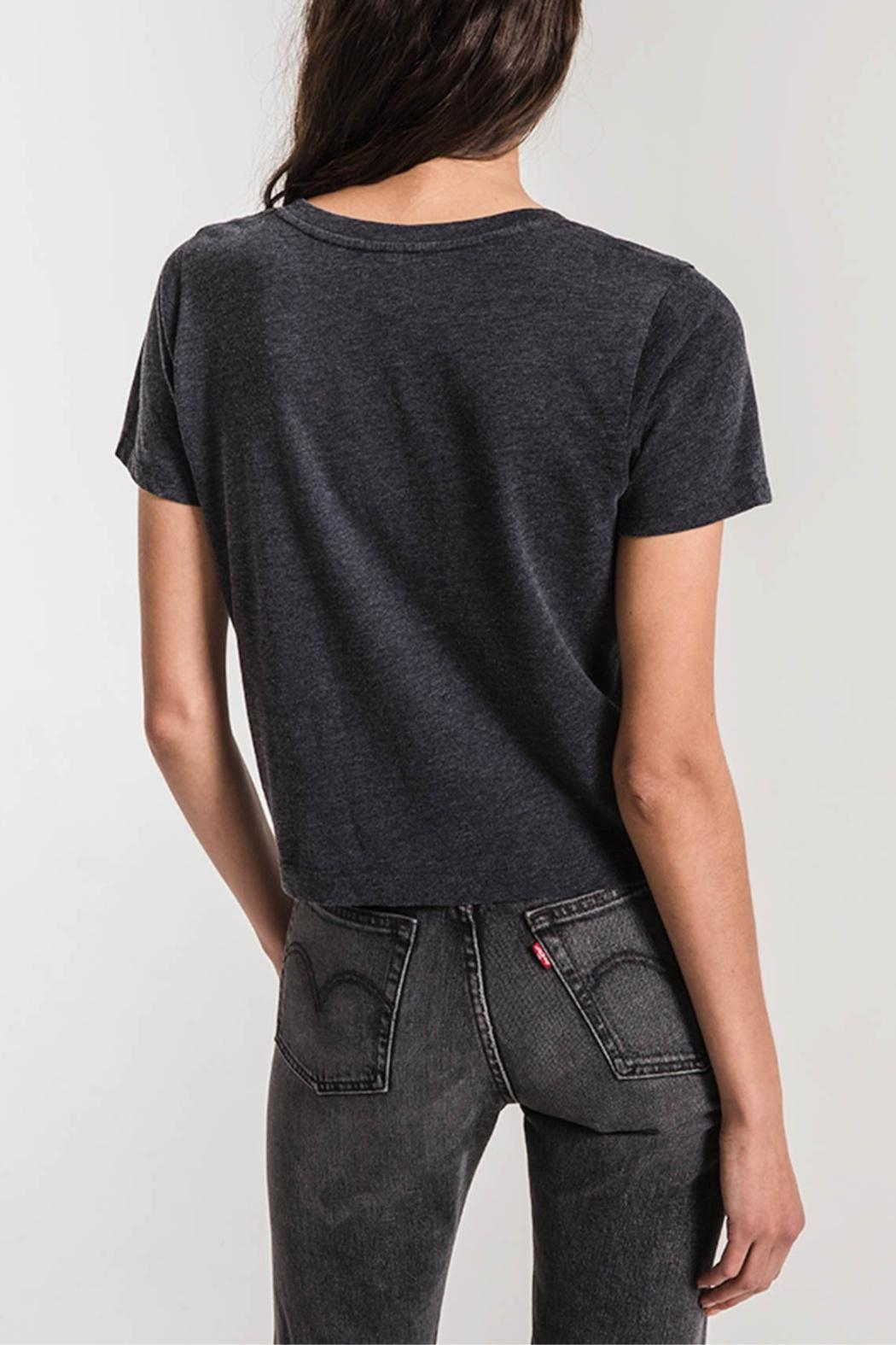 z supply Classic Skimmer Crop Tee - Front Full Image