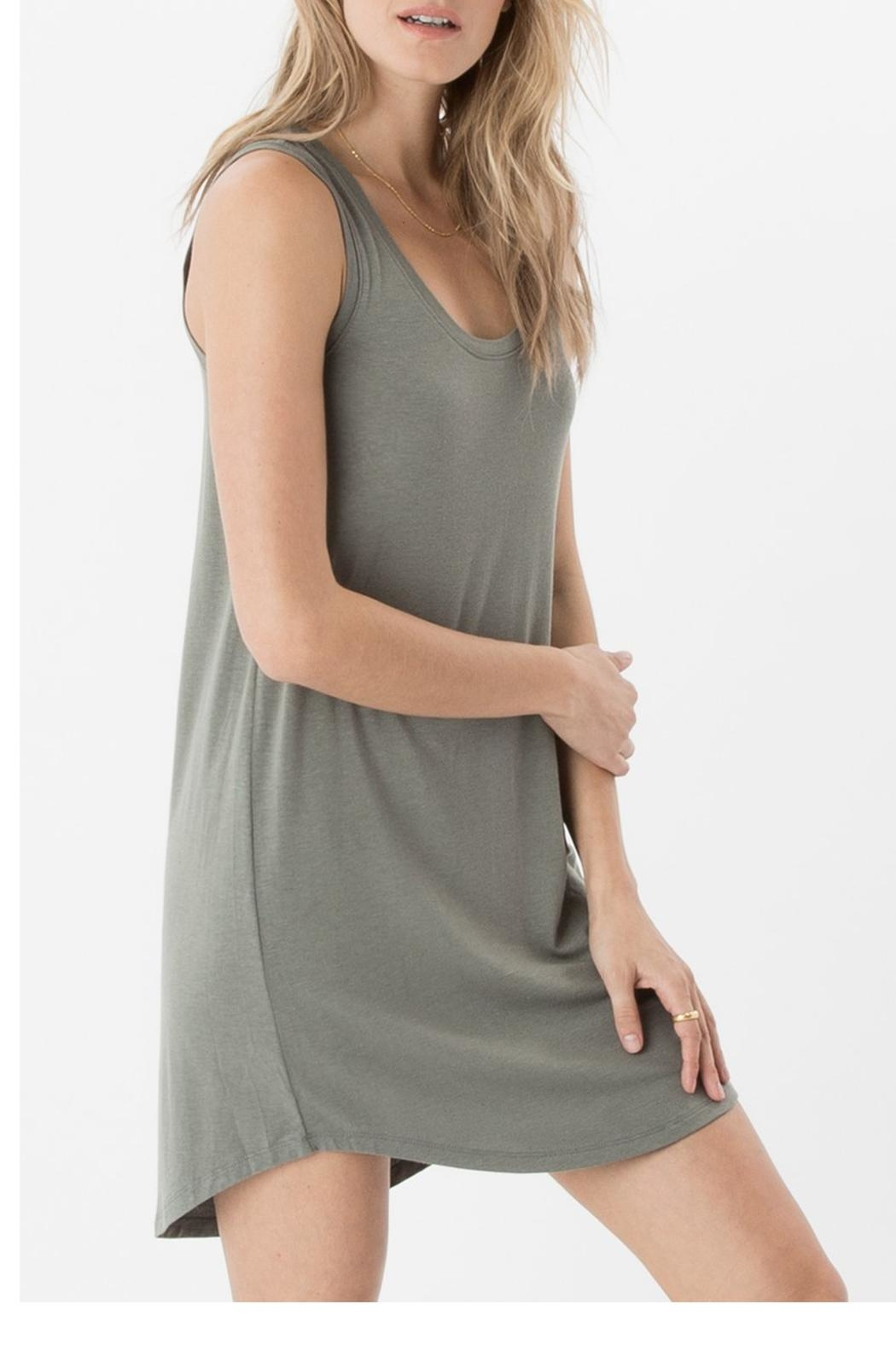 z supply Coastline Scoop Tunic Dress - Side Cropped Image
