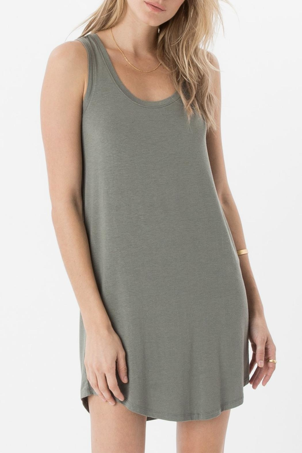 z supply Coastline Scoop Tunic Dress - Front Cropped Image