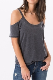 z supply Cold Shoulder Tee - Front cropped