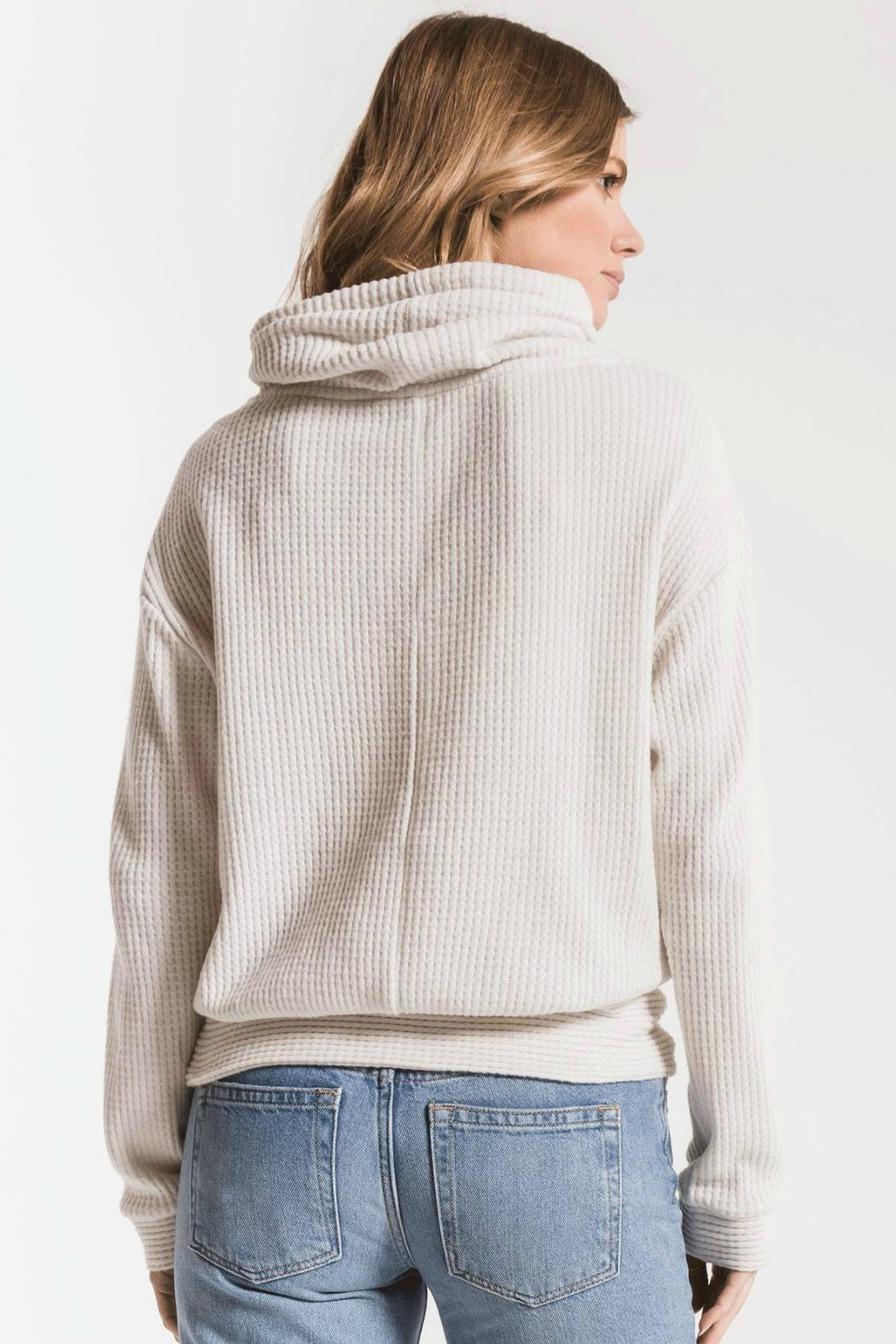 z supply Cowl Neck Waffle - Side Cropped Image