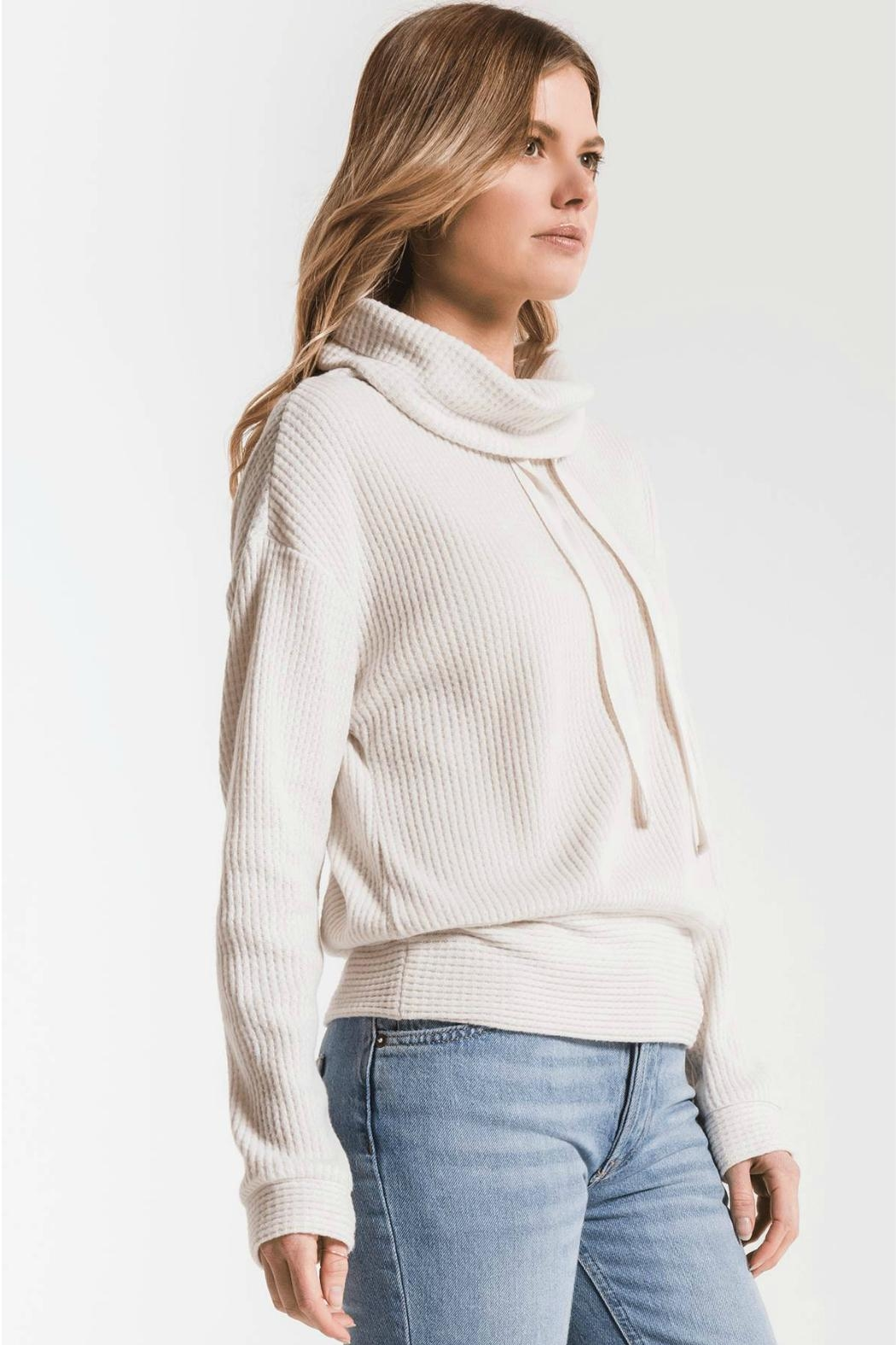 z supply Cowl Neck Waffle - Front Full Image