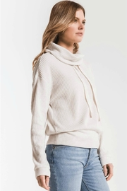 z supply Cowl Neck Waffle - Front full body