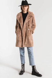 Z Supply  Cozy Sherpa Coat- Toffee - Product Mini Image