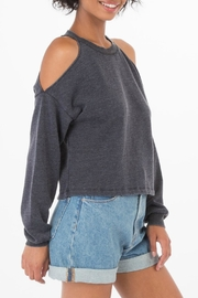 z supply Cropped Cold Shoulder - Front full body