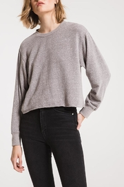 z supply Cropped Grey Long Sleeve - Product Mini Image