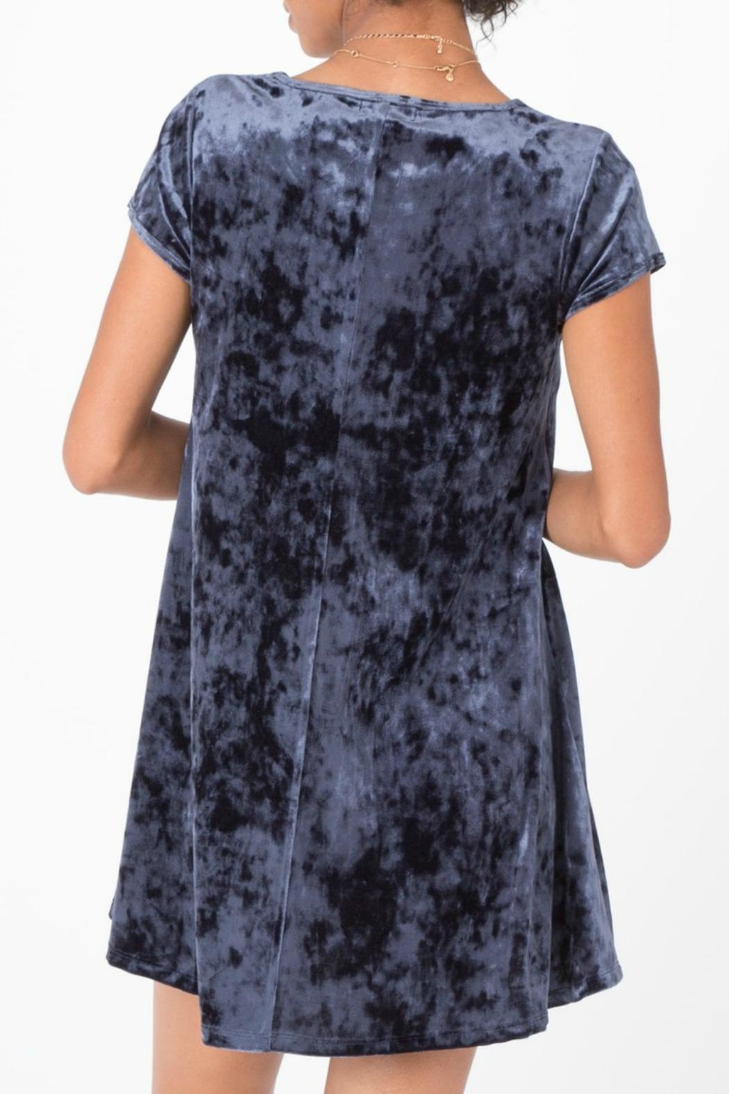 z supply Crushed Velour Dress - Side Cropped Image
