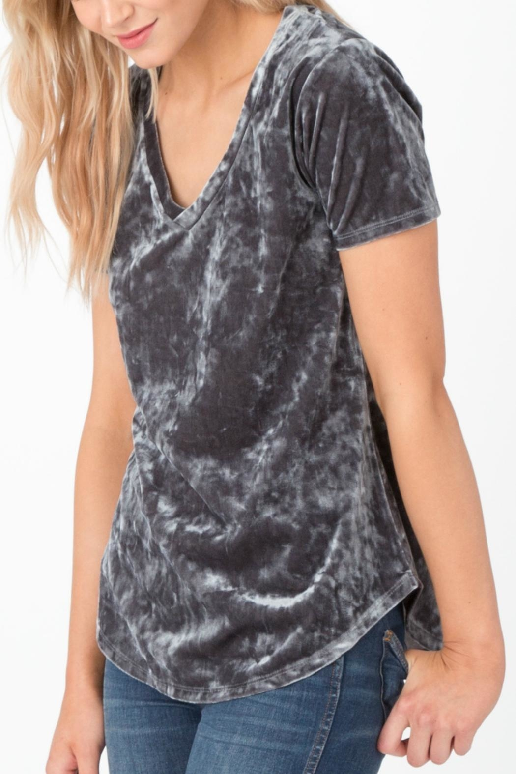 z supply Crushed Velvet Tee - Side Cropped Image