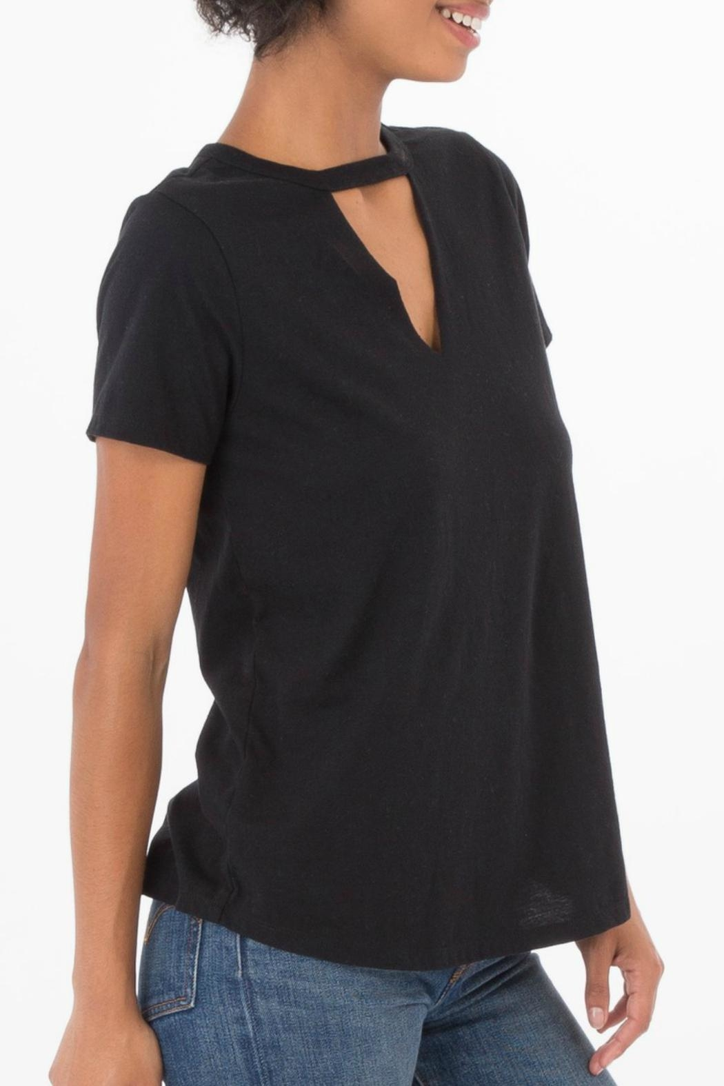 z supply Cutout Choker Tee - Front Full Image