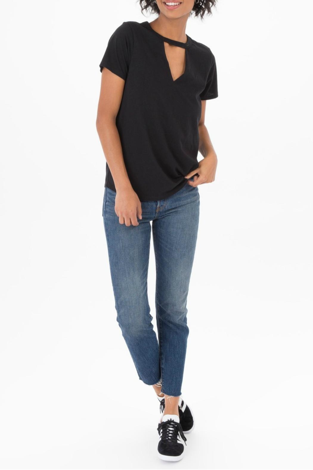 z supply Cutout Choker Tee - Back Cropped Image