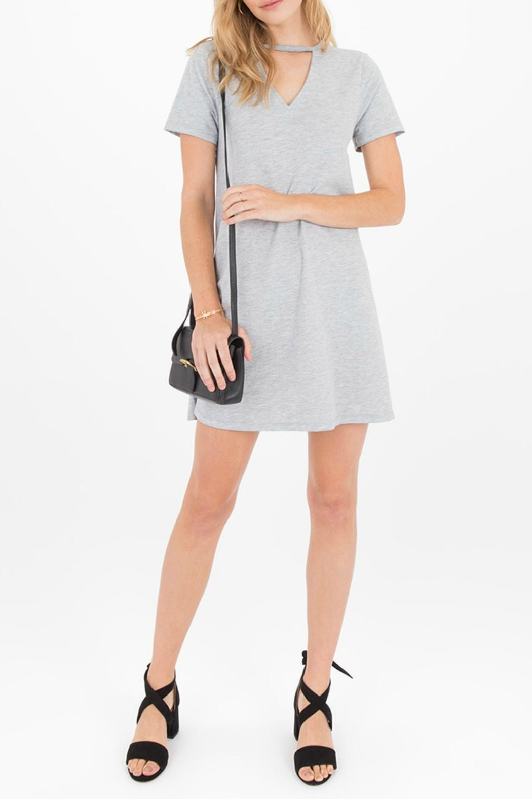 z supply Cutout Front Dress - Back Cropped Image