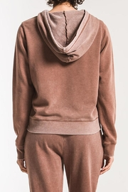 z supply Faded-Wash Pullover Hoddie - Back cropped