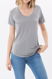 z supply Favorite Grey Tee - Front cropped