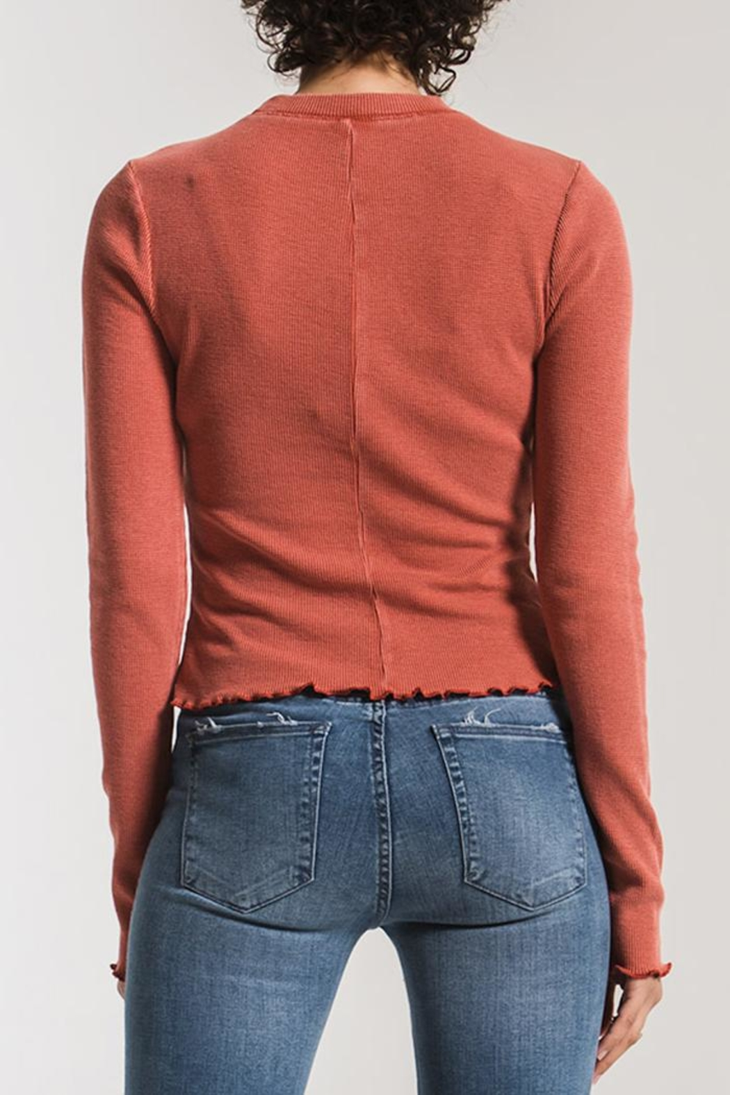 z supply Fitted Thermal Long-Sleeve - Side Cropped Image