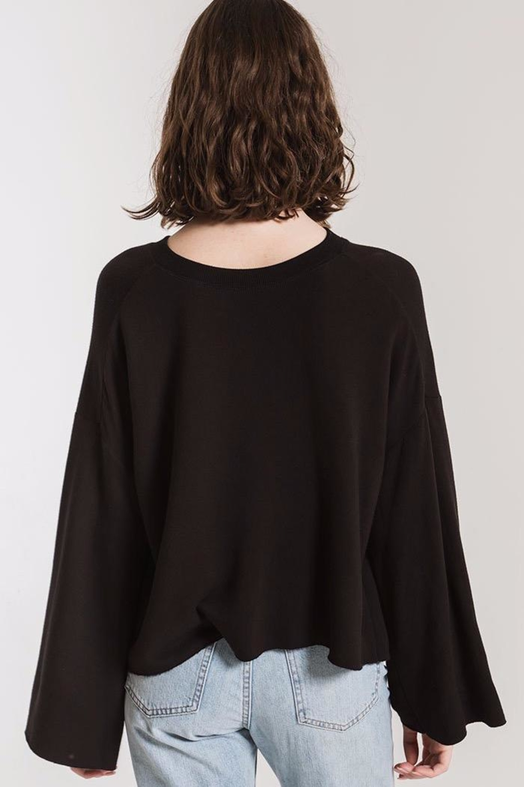 z supply Flare Sleeve Pullover - Front Full Image