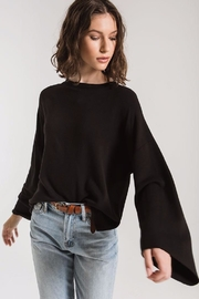 z supply Flare Sleeve Pullover - Front cropped