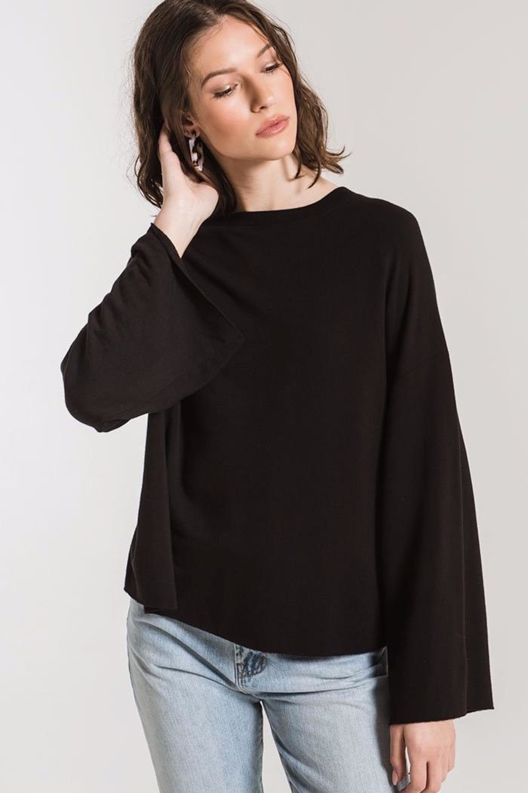 z supply Flare Sleeve Pullover - Side Cropped Image