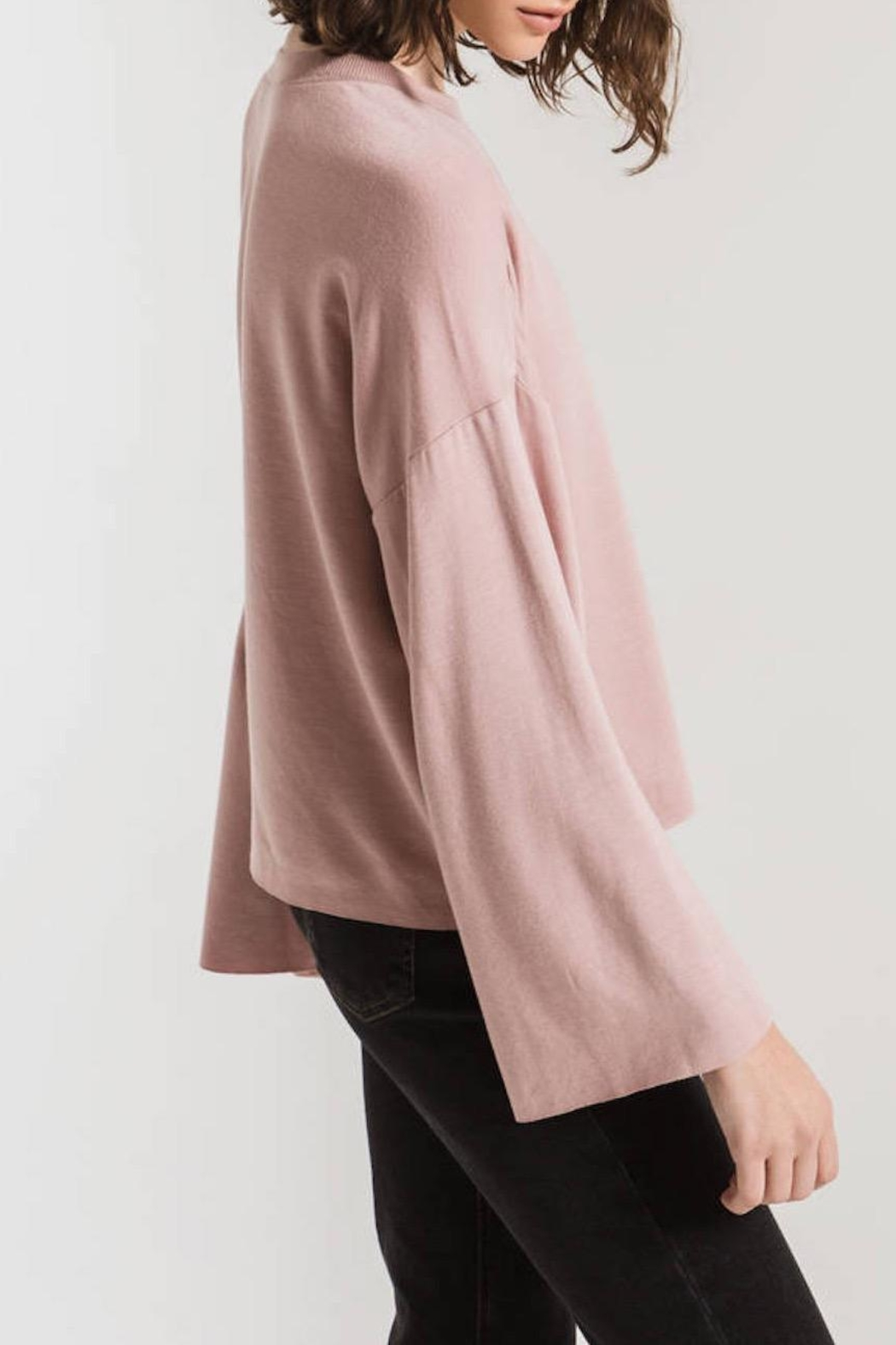 z supply Flare Sleeve Pullover - Back Cropped Image