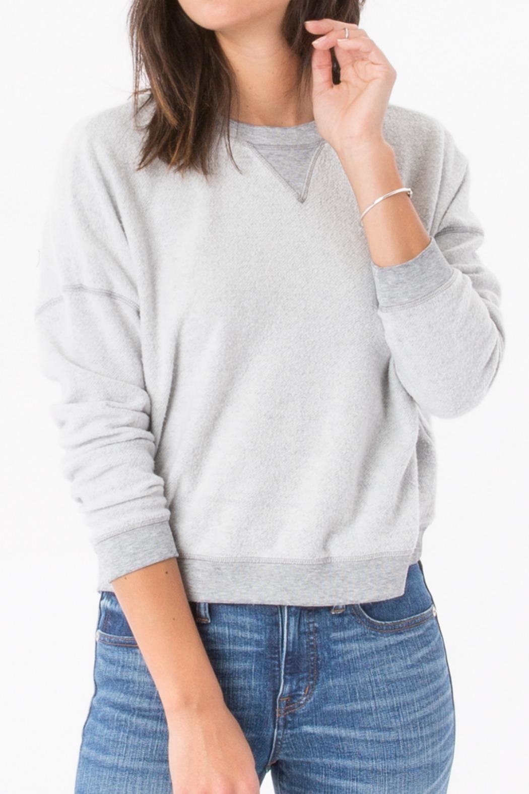 z supply Fleece Crop Pullover - Front Cropped Image
