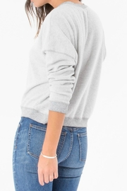 z supply Fleece Crop Pullover - Front full body