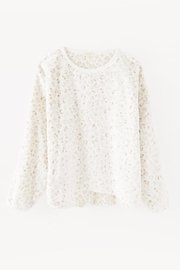 z supply Frosted Plushleopard Pullover - Back cropped