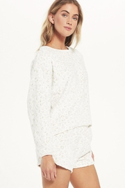 z supply Frosted Plushleopard Pullover - Front full body