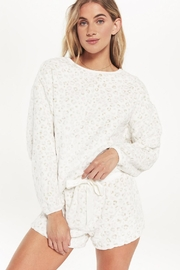 z supply Frosted Plushleopard Pullover - Front cropped