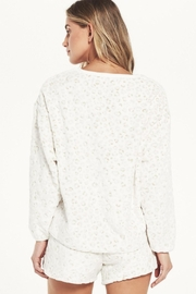 z supply Frosted Plushleopard Pullover - Side cropped
