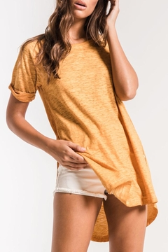 z supply Gold Tee-Shirt Dress - Product List Image
