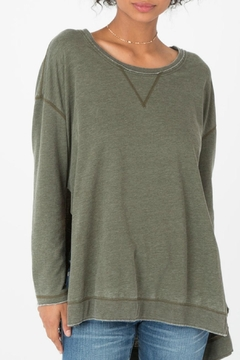 Shoptiques Product: Green Long Weekender Sweatshirt