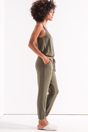 z supply Green Tank Jumpsuit - Front full body
