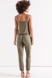 z supply Green Tank Jumpsuit - Back cropped