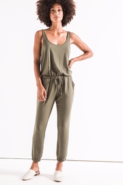 z supply Green Tank Jumpsuit - Front cropped