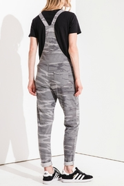 z supply Grey Camo Overalls - Front full body