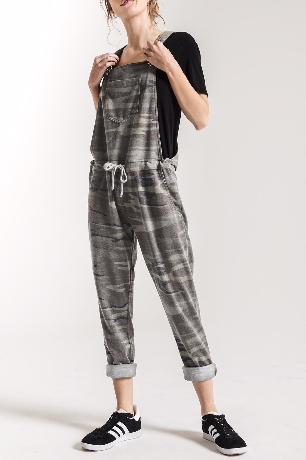 z supply Grey Camo Overalls - Main Image