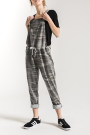 z supply Grey Camo Overalls - Front cropped