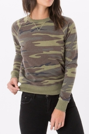 z supply Olive Camo Pullover - Product Mini Image
