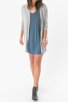 Shoptiques Product: Grey Hooded Wrap