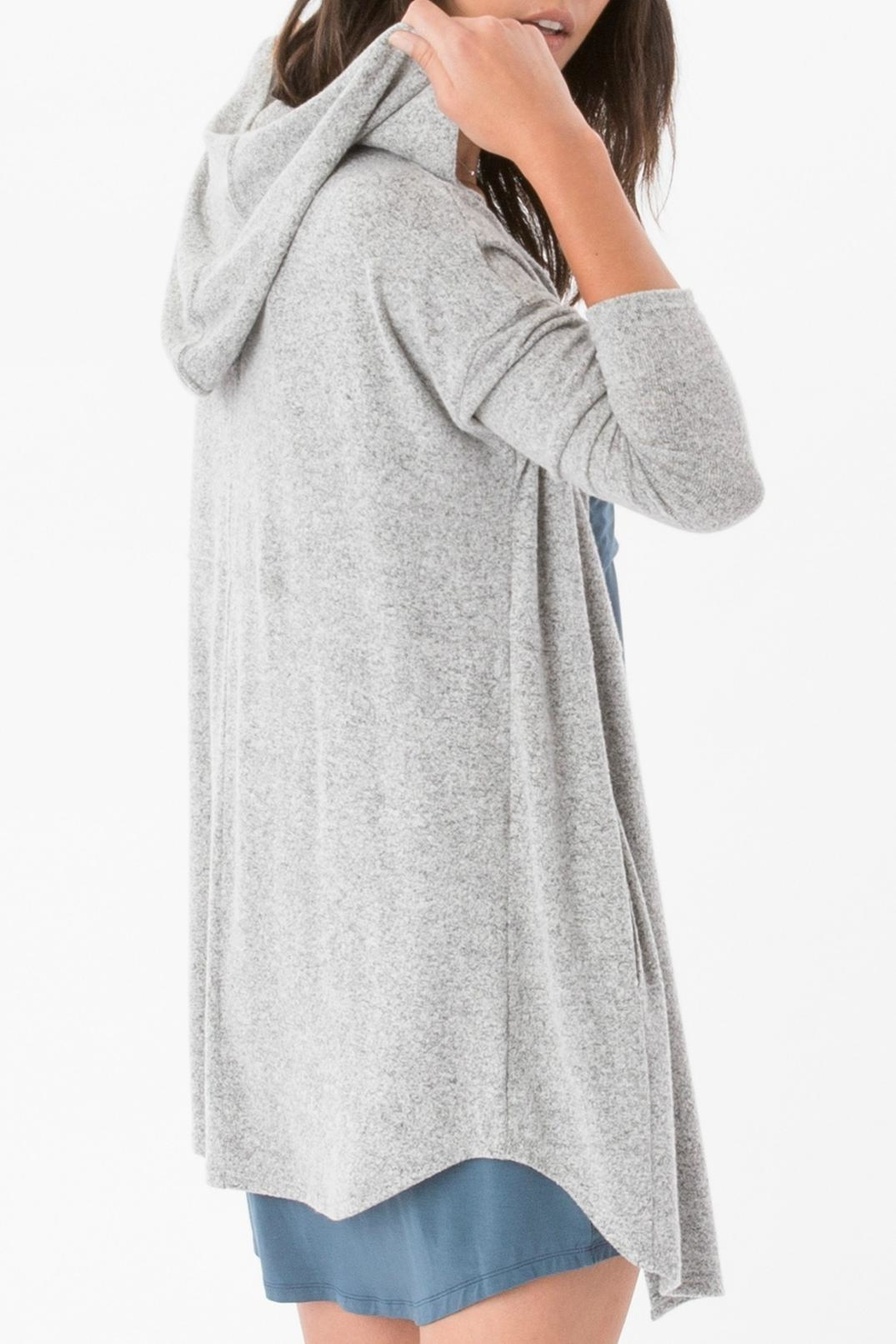 z supply Grey Hooded Wrap - Front Full Image