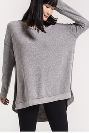 z supply Grey Oversized Sweater - Product Mini Image