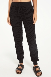 z supply Tiger Flocked Jogger - Product Mini Image