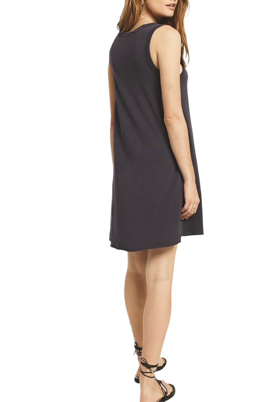 z supply Jersey Dress Black - Front Full Image