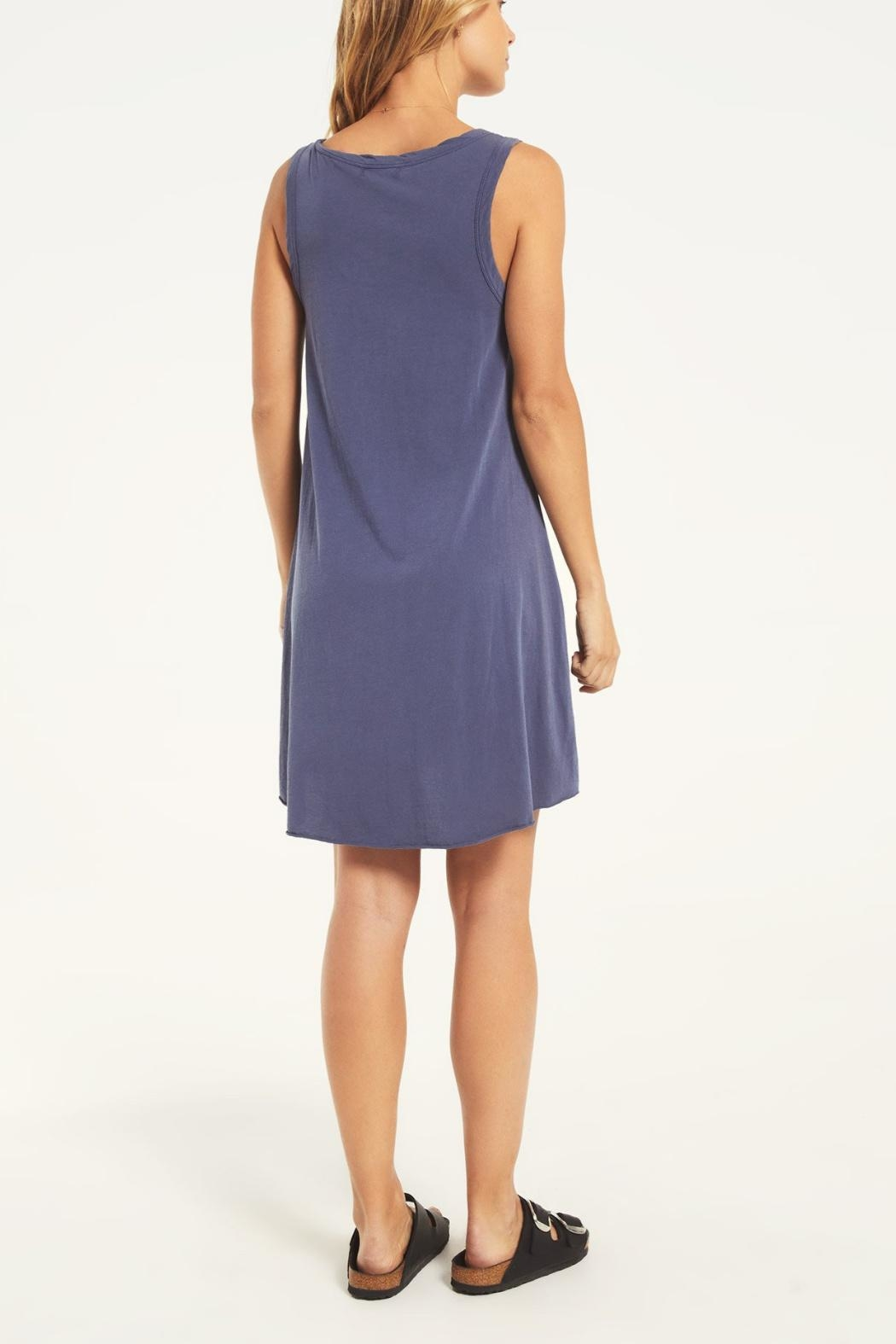 z supply Jersey Dress Blue - Front Full Image