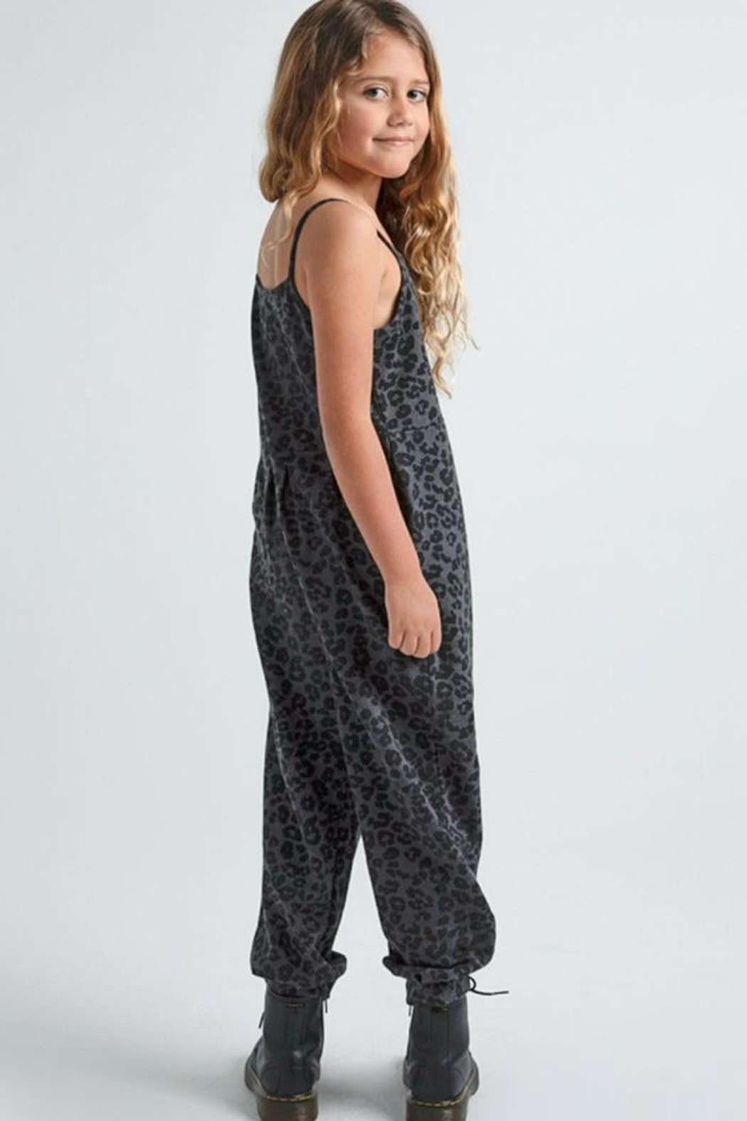 z supply Kids Cheetah Jumpsuit - Side Cropped Image