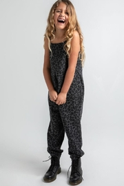 z supply Kids Cheetah Jumpsuit - Front full body